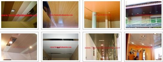 Falsos techos de aluminio Madrid